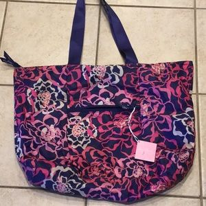 Vera Bradley Tote in a pouch, Pink